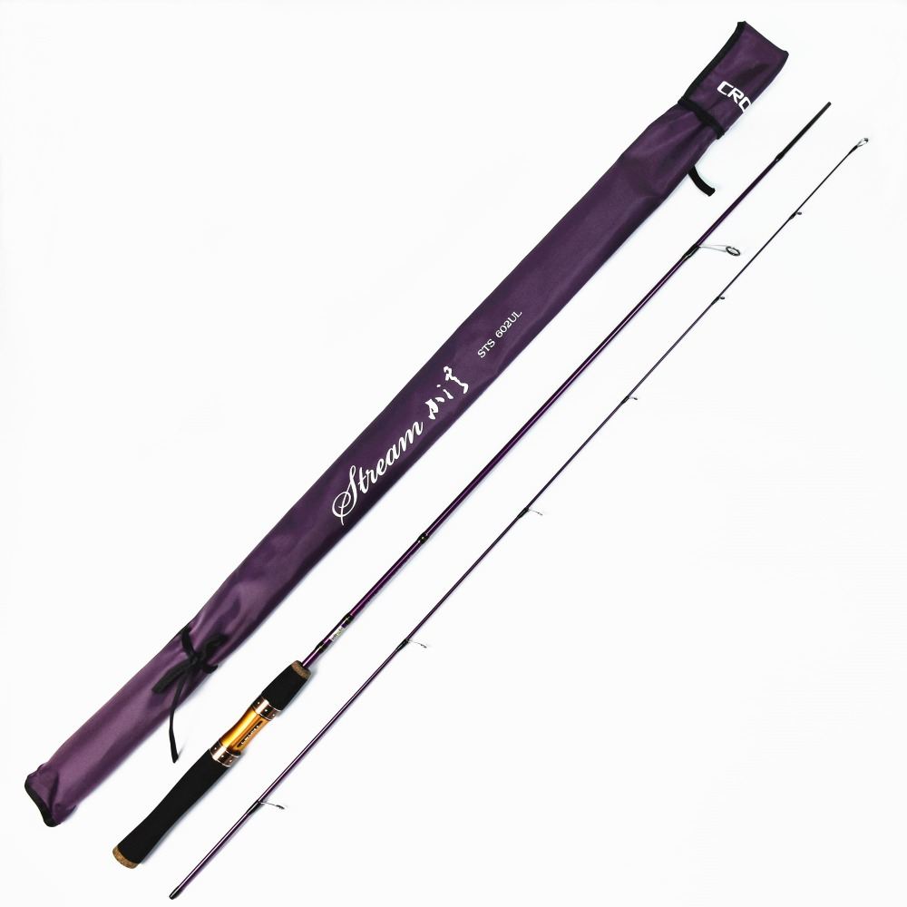Crony Stream Series STS-602 UL Spinning Rod Field & Stream 2pieces Fishing Rods 6'0 1-3g Lure Weight 2-4lb Line Class crony st8003 3 gc pro stream series rod weight 79g 8 0 3 3pieces fly rod 6 15g fishing rod
