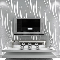 Modern Solid Curve Pattern Wallpaper 3D Mural Wall Decals Fresh Textile Non Woven Bedroom Wallpapers Sofa