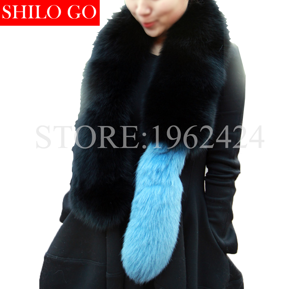 2017 winter new fashion women high-quality party party in Milan show olivia palermo same section raccoon fur fox fur shawl scarf