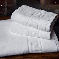 Unihome 3 pcs/lset màu trắng của khách sạn Khăn tắm tập 100% bông lớn tường kẻ sọc bán buôn