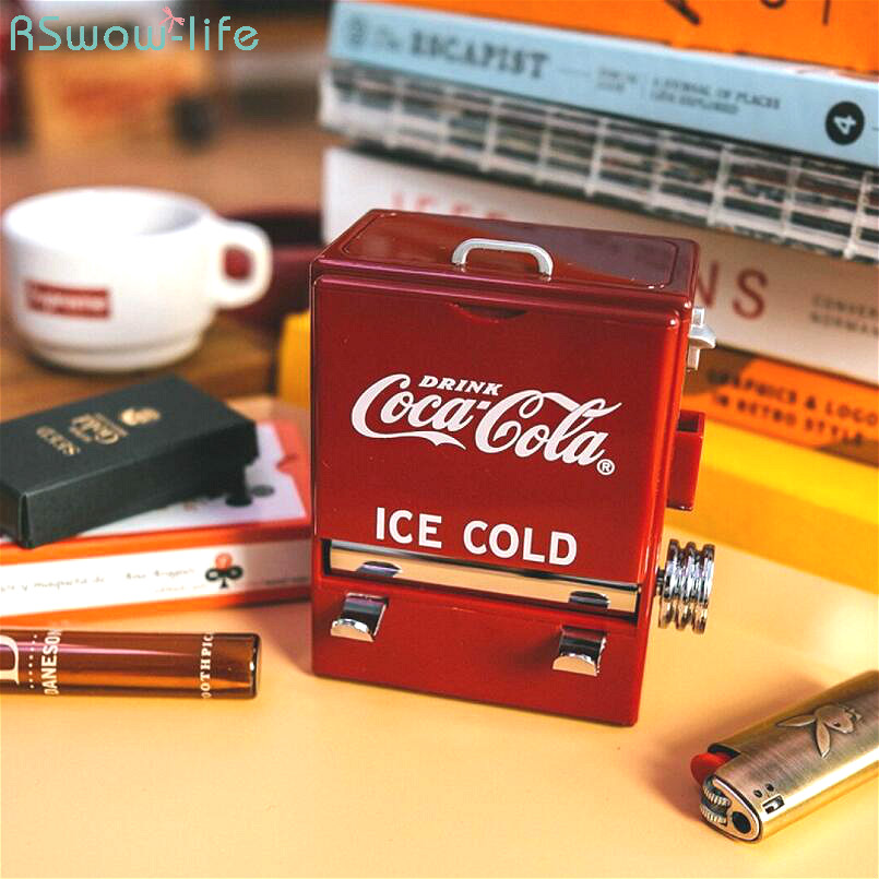 Personality Creative Retro-Cola Toothpick Box Vending Machine Style Pressing Toothpick Case Dispenser Plastic Holder Ornament(China)