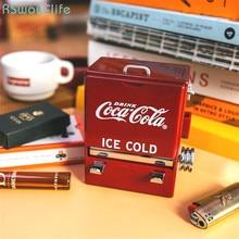 цена на Personality Creative Retro-Cola Toothpick Box Vending Machine Style Pressing Toothpick Case Dispenser Plastic Holder Ornament