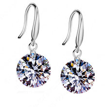 Fashiom Shiny Earring For Women Girl Top Quality Sterling Crystal Jewelry Wedding Party Wholesale Promotion(China)