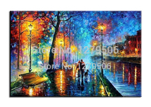 Artist High Quality Handmade Rich Colors modern Landscape Oil Painting Colorful Palette Knife Paintings Wall Art Pictures