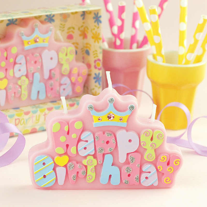 2019 Fashion Children's Party Birthday Candle Decoration Creative Happy Birthday Letters Happy Birthday Cake Candle Decorations