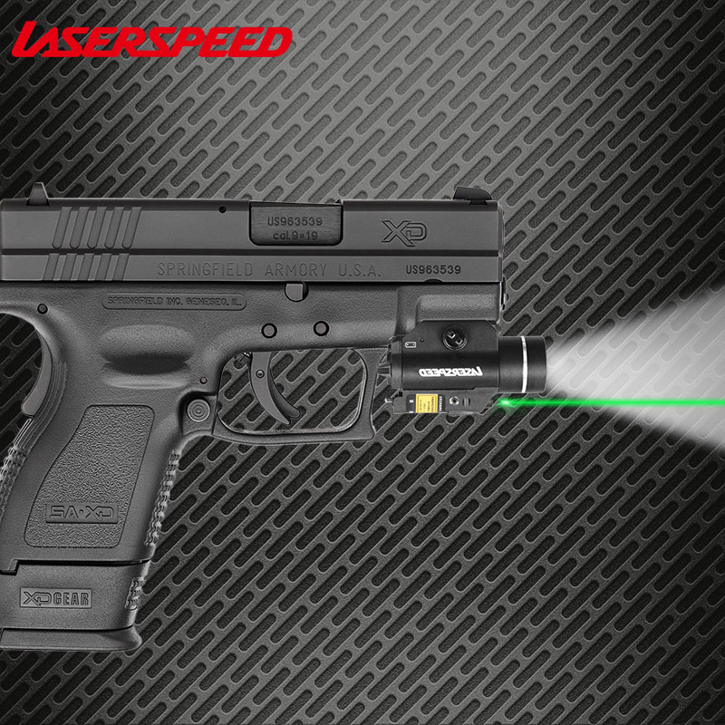 Laserspeed LS CL2 Weapon Light Constant Strobe Light With Green Red IR Infrared Laser Sight Pistol