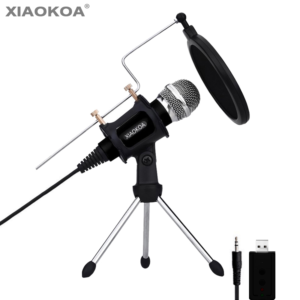 condenser microphone for phone with stand for computer iphone recording podcasting mobile. Black Bedroom Furniture Sets. Home Design Ideas