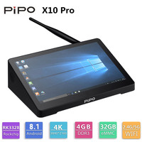 Pipo X10 Pro Mini PC Windows 10 мини ПК Intel Cherry Trail Z8350 4G 32 г 10,8 дюймов Tablet PC 2.4g WiFi BT4.0 Smart Media Player