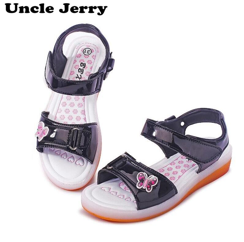 UncleJerry USB Charging Sandals for Girls and Women Butterfly Glowing Children Shoes Kids Summer Beach Sandals Baby ShoesUncleJerry USB Charging Sandals for Girls and Women Butterfly Glowing Children Shoes Kids Summer Beach Sandals Baby Shoes