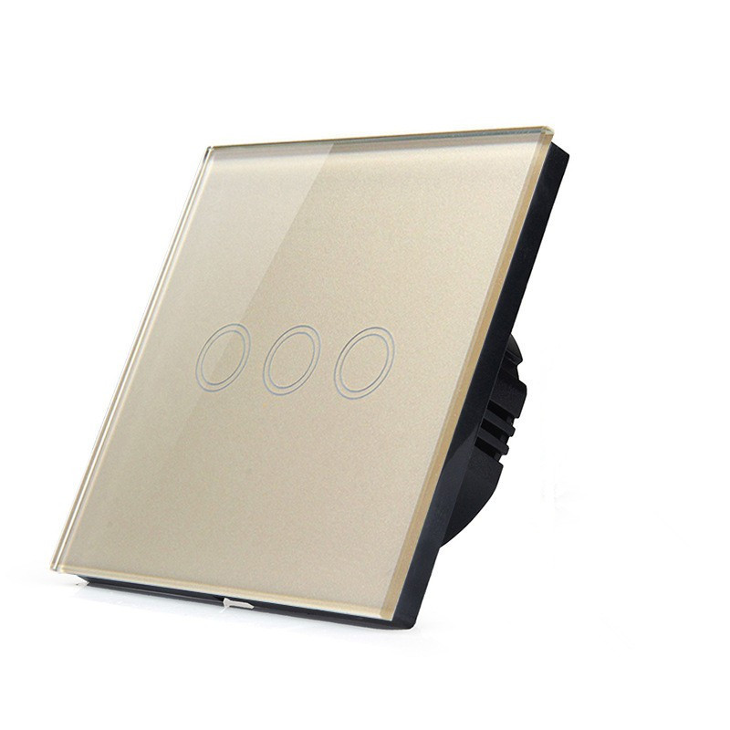 EU/UK Standard Touch Switch 3 Gang 1 Way, Crystal Glass Switch Panel, Remote Control Wall Light Touch Switch EU AC110V-250V remote switch wall light free shipping 3 gang 1 way control touch us standard gold crystal glass panel with led electrical