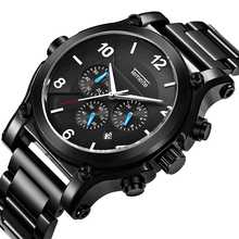 High Quality Mens Watches Top Brand Luxury Fashion Casual Sport Quartz Watch Men Waterproof Chronograph Date Business Wristwatch