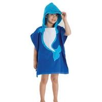 Baby Bathrobes Children Cloak Kids Boys Girls Hooded Terry Bathrobe Winter Baby Beach Tower Bath Robes
