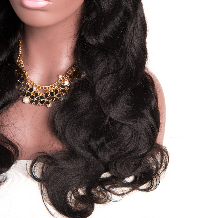 Gossip Hair Wig Malaysian Body Wave Lace Առջևում Մարդու - Մարդու մազերը (սև) - Լուսանկար 5