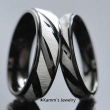 Wedding rings Valentines Day Gift For Men For Women Black Stainless Steel Rings Lover's Gifts engagement ring titanium KR006