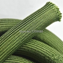 5M soft cotton Nylon Sleeve  4/6/8/10/12/14/16/18mm Wire Cable Protecting Braided High Density wire protection army green