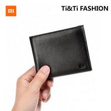 Chaude!!! 90 Fen Xiaomi Portefeuille En Cuir Pleine Véritable Noir Bourse Homme Élégant D'affaires Vachette Haute Qualité haut de gamme Designer