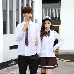 Весна Осень Корейская школьная форма для женщин и мужчин болельщик студент сценическая рубашка штаны юбка наборы ухода