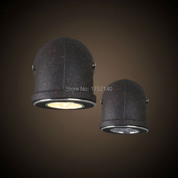 fashion led wall lamp 3w, wrought iron diameter 9cm water pipe wall lamp,vintage industrial retro balcony stair lighting