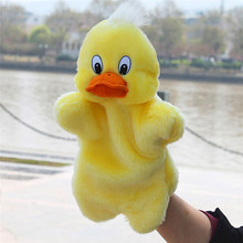 Pizies Kids Lovely Animal Plush Hand Puppets Childhood Soft Toy Duck Shape Story Pretend Playing Dolls Gift For Children on sale