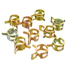 60pcs/set 7/10/11/14/16/17mm Fuel Hose Clamps Assortment Set Spring Steel AirWater Line Silicone  Clip