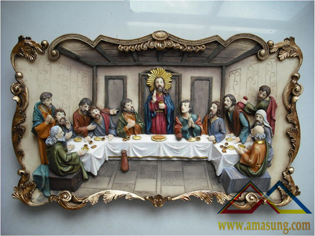 20 Inch The Last Supper Wall Hanging Plaque Statue Half Price Of