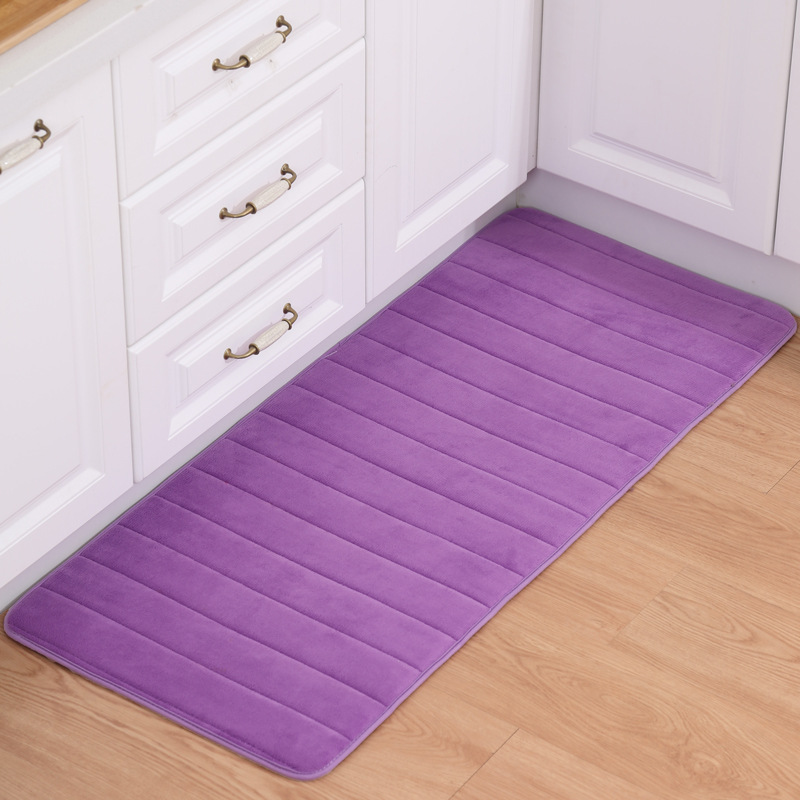 Zeegle Kitchen Mat Bath Carpet Floor Mat Home Entrance Doormat Absorbent Bedroom Living Room Floor Mats Modern Kitchen Rug image