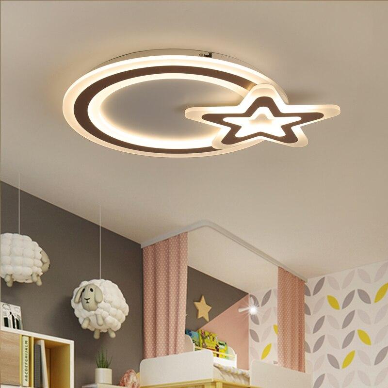 White Color Modern led ceiling chandelier lights for bedroom Children Room Kids Room AC 85-265V Ceiling chandelier fixtures