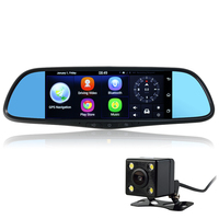 Udricare 7 Inch 3G GPS Navigation Android 5 0 WiFi Bluetooth HD 1080P Video Recorder Rear