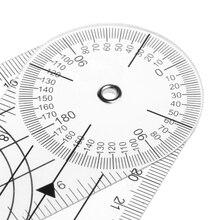 Userful мульти-линейка 360 градусов угломер медицинский спинной линейка см/дюйм