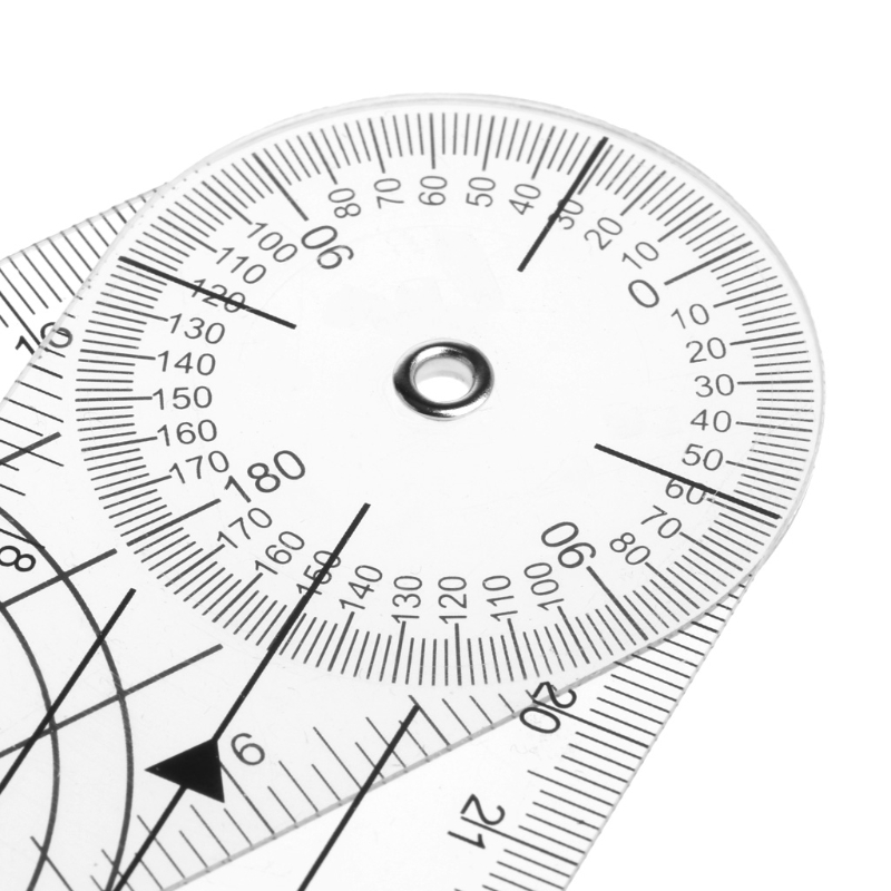 Userful Multi-Ruler 360 Degree Goniometer Angle Medical Spinal Ruler CM/INCH