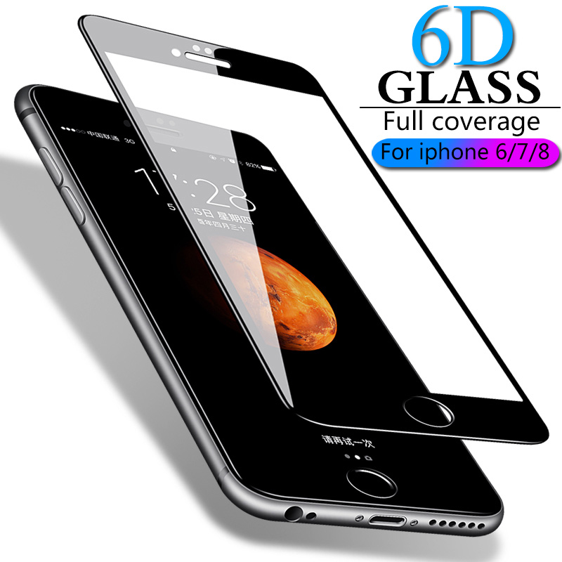Image 5 - Full coverage tempered glass for iphone 7 6 6s 8 plus XS MAX glass iphone 7 8 6 X screen protector protective glass on iphone 7-in Phone Screen Protectors from Cellphones & Telecommunications