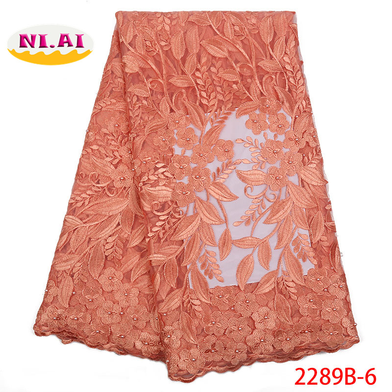 Onion African Lace Fabric 2018 High Quality Lace Tulle Lace Flower Fabric Lady Dresses Lace Fabric
