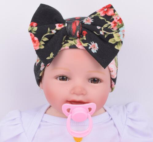 ON SALE 1PCS Hospital Newborn Hat Baby Girl Beanie With Big Bowknot Newborn  Knit Infant Flower Hipster Caps Baby Toddler Cap f925232f22a
