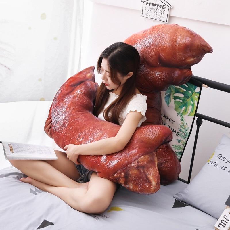 110cm grande taille jouet cochon pieds en peluche jouet mignon endormissant lit oreiller doux coussin tissu doux pour les enfants comme un cadeau de noël - 5