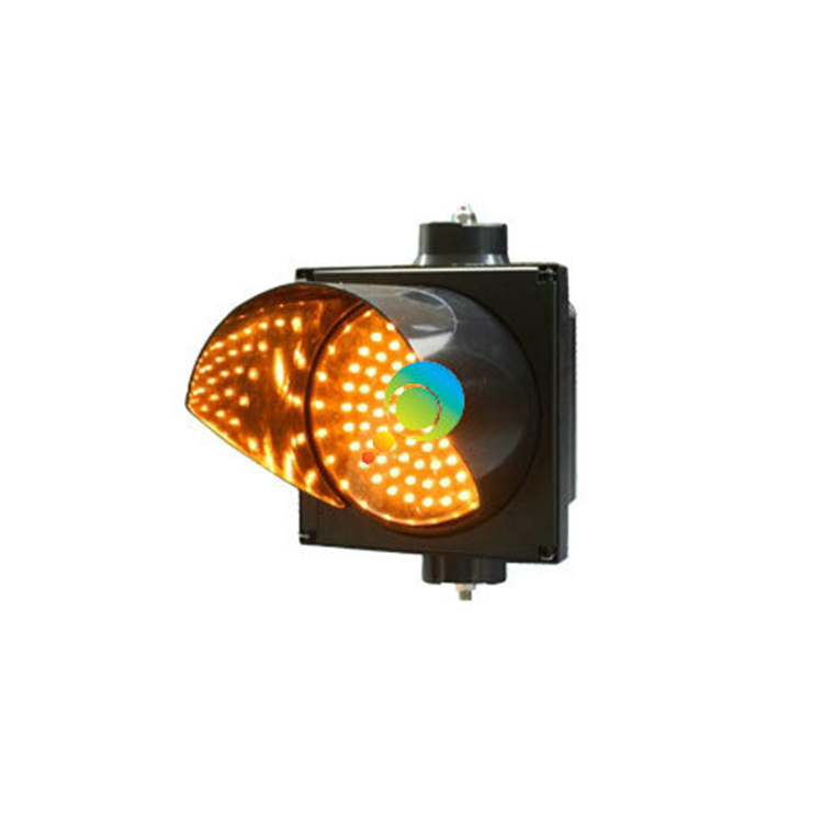 Factory Direct Price IP55 CE RoHS Approved PC Shell 200mm Single Yellow LED Traffic Signal Light