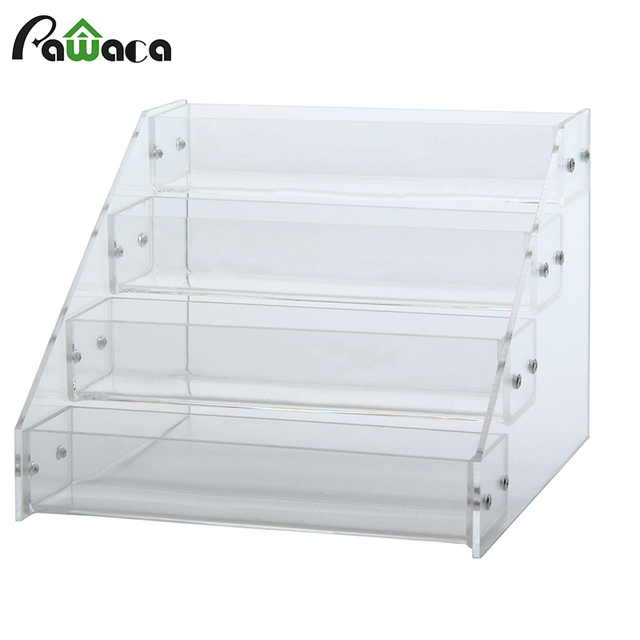 Gentil Clear Acrylic Display Stand Nail Polish Holder Counter Makeup Organizer  Sundry Cosmetics Storage Racks Case