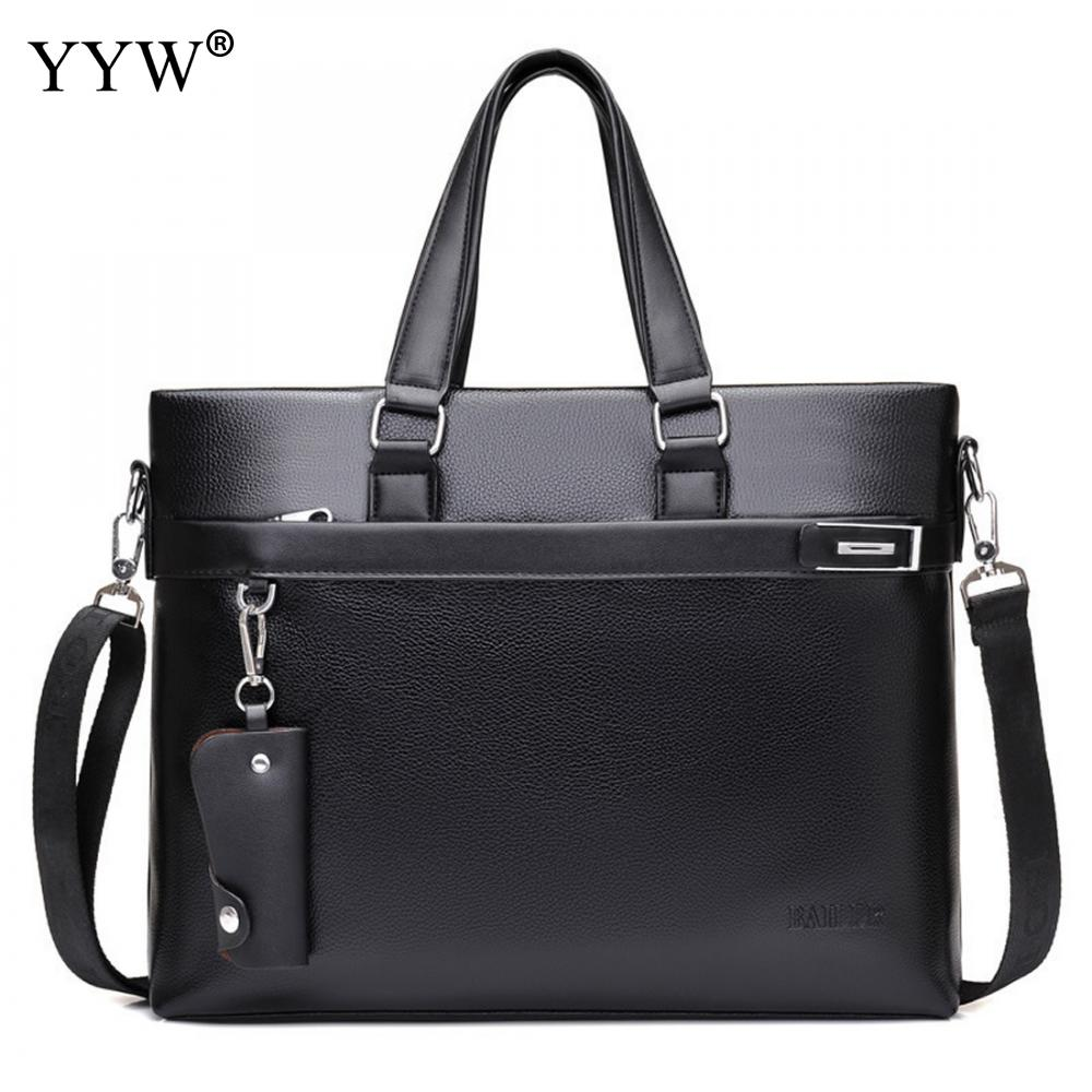 Fashion Malette Cuir Homme Famous Business Men Briefcase Bag Luxury Pu Leather Laptop Executive Bag Man Shoulder Bag Bolsa Malet
