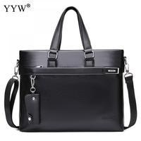 Fashion Malette Cuir Homme Famous Business Men Briefcase Bag Luxury Pu Leather Laptop Executive Bag Man Shoulder Bag Bolsa Malet