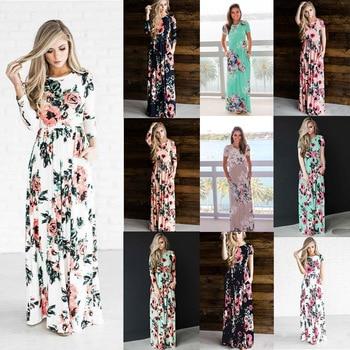 6c3b6f8ddf9bf84 Product Offer. Новое винтажное цветочное зимнее платье 2019 женское длинное  богемное ...