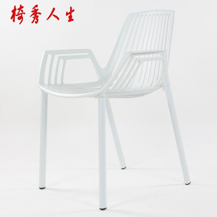 Aluminium Outdoor Stühle Verhandeln Stuhl Mode Designer Stühle Metall Stühle  Ausstellung Balkon In Aluminium Outdoor