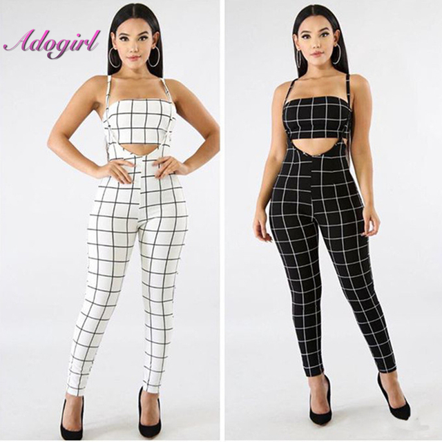 a8de90ac94 Adogirl Summer Jumpsuits outfit 2018 two piece suits Strapless Bandage women  casual sexy fashion Jumpsuits Rompers