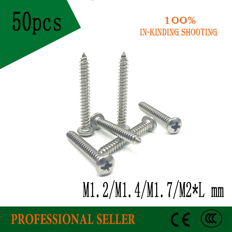 NEW 304 A2-70 Stainless M1 M1.2 M1.4 M2 Phillips Flat Head Self Tapping Screws