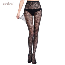 Fishnet Nylon Stocking Sexy Mesh Net Lace Floral Jacquard Mature Woman Sexwear Pantyhose Fetish Patterned Tights Gothic