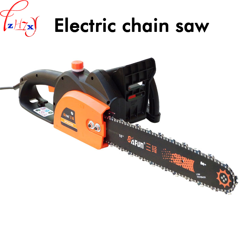 цена 1pc SF03-405A Household electric chain saw high power 16-inch woodworking saw automatic pump oil electric chain saw 220V 2200W