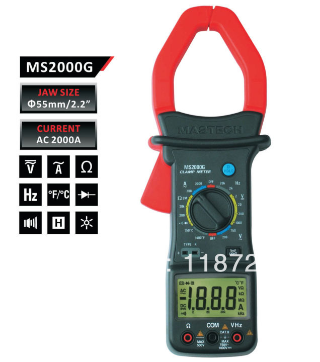 MASTECH MS2000G Digital Clamp Meter Current AC DC Voltage Resistance Temperature Tester  цены