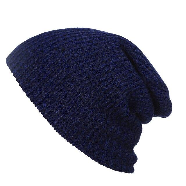 91974df4ba03d 2017 Nueva moda para mujer de invierno sombreros gorros Skullies unisex  caps 6 colores para hombre