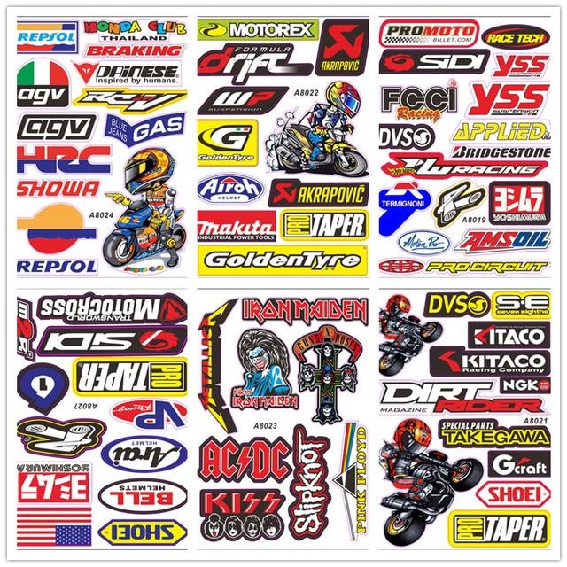 A4 Size Glossy Film Motorcycle Sticker The Doctor GP Motocross Helmet Decal For Yamaha Kawasaki Honda BMW Luggage 2Pcs/Lot