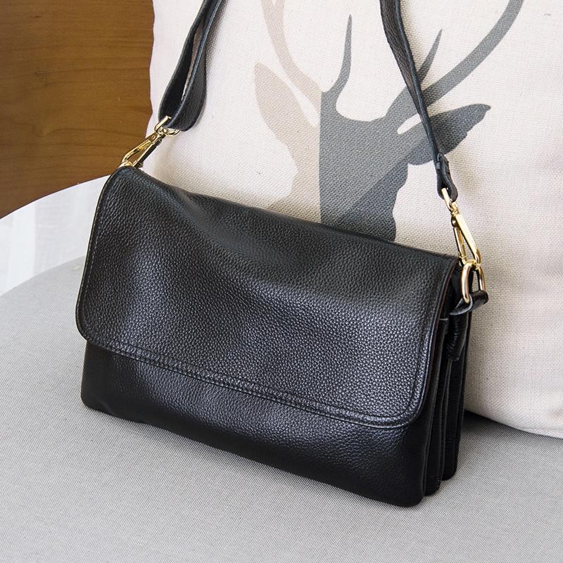 Genuine Leather Women s Messenger Shoulder Bag Fashion Crossbody bags for female Luxury Handbags Ladies Tote