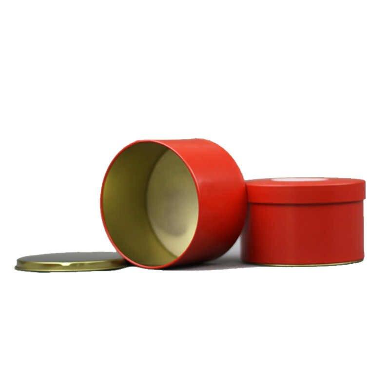 Xin Jia Yi Bao Bì Hộp Kim Loại Rỗng Tin Có Thể Đám Cưới Xi Lanh Trà Gói Quà Tặng Container Với Nhôm Lá Mỏng Giấy Gói hộp