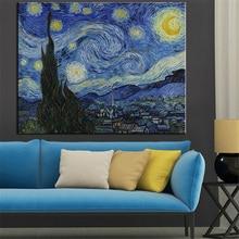 Große größen Sternennacht c1889 Giclee poster Von vincent Van Gogh drucken wandkunst ölgemälde bild leinwand kein rahmen